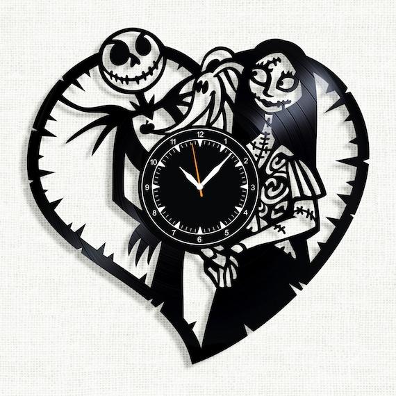 Nightmare Before Christmas Vinyl Record Clock Wall Clock