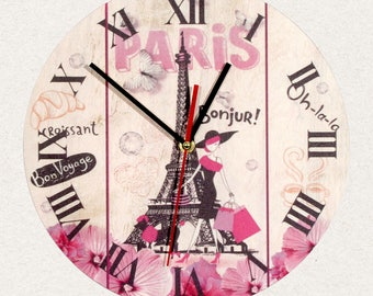 THE BEST Wall Clock Paris France Eiffel tower, Best Gift for Home Decor