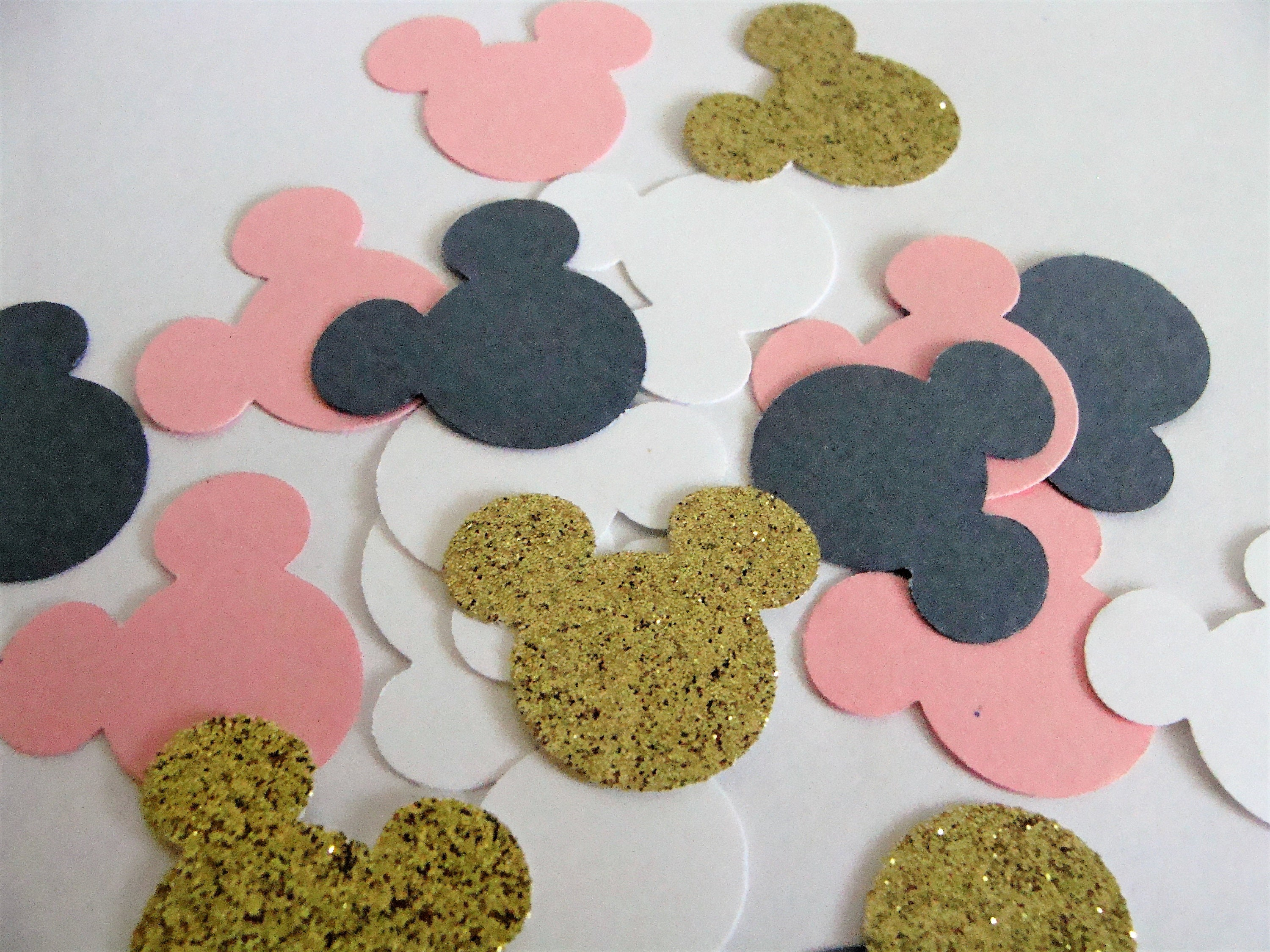 Minnie Mouse Confetti Pink And Gold Table Decor Minnie Mouse Etsy