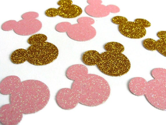 Minnie Mouse Confetti Pink and Gold
