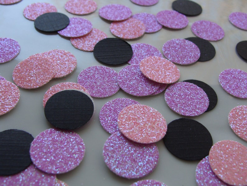 Pink and Purple Wedding and Bridal ConfettiTable DecorPink ConfettiPurple Confetti 150ct Pink and Purple Glitter Confetti