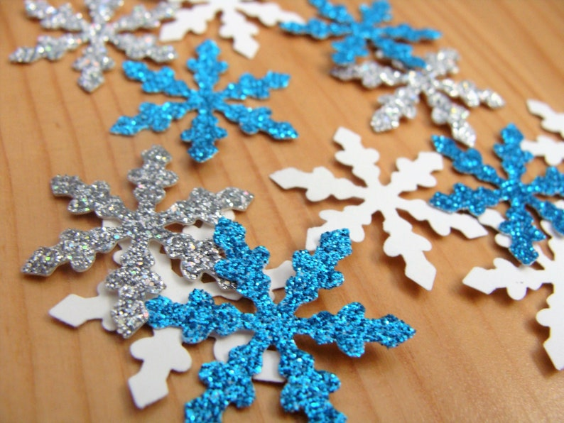 Baby Shower Decorations Winter Wonderland Confetti Winter Onederland Party Snowflake confetti Frozen Birthday Party Party Table Decor.