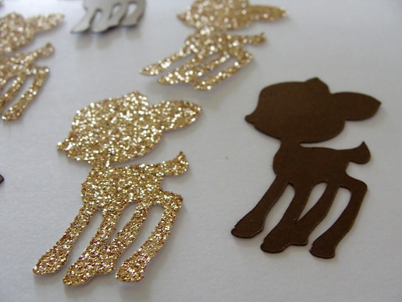 scrapbooking Birthday 100 gold glitter bambi//deer confetti baby shower