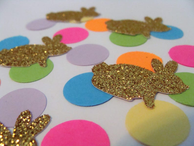Handmade Bunny Rabbit Confetti First Birthday Gold Glitter Bunny Party Decor Peter Rabbit Confetti Baby Shower Confetti Animal Confetti