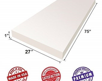 "Upholstery Foam Cushion Sheet 30/""x75/""   Medium Density Support Premium Quality"