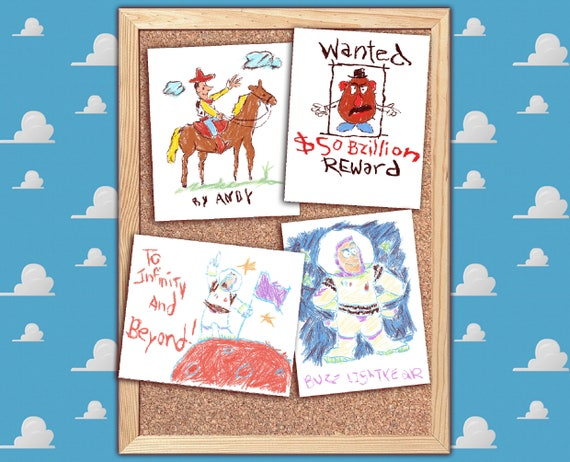 New Instant Download Pdf Toy Story 4 Posters Lot Andys Room Replica Buzz Woody Mr Potato