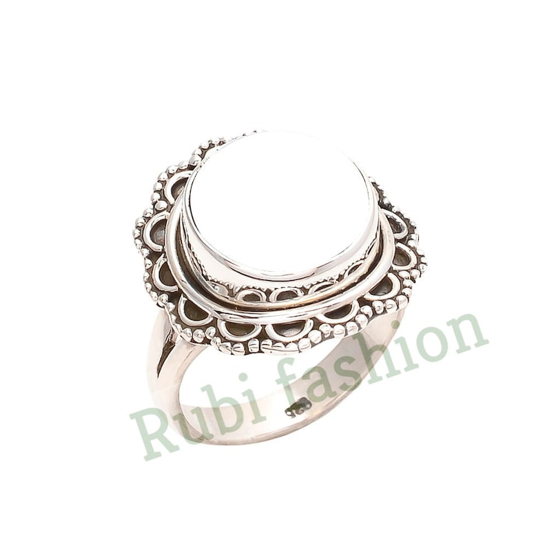 R64 12 mm Blank Ring Ring Blank 12mm Round Blank 925 Sterling Silver Ring Base Round Cabochon Ring Setting Blank Ring