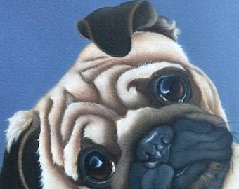 "pug painting ""Benny"""