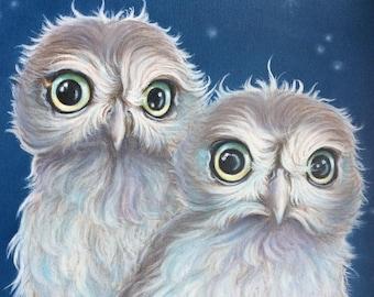 owl painting ORIGINAL