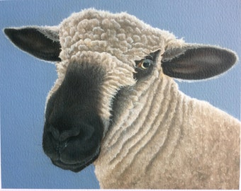 """sheep painting """"Myfanwy"""""""