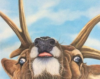 Stag print, deer painting, gift, art, picture