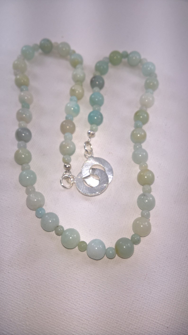 Green Gemstone Necklace and earrings. Genuine Amazonite necklace and earrings Set Amazonite Amazonite Necklace Amazonite earrings