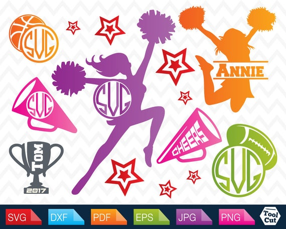 Svg Cheerleader Svg Cheer Monogram Frame svg Cheerleading Svg ...