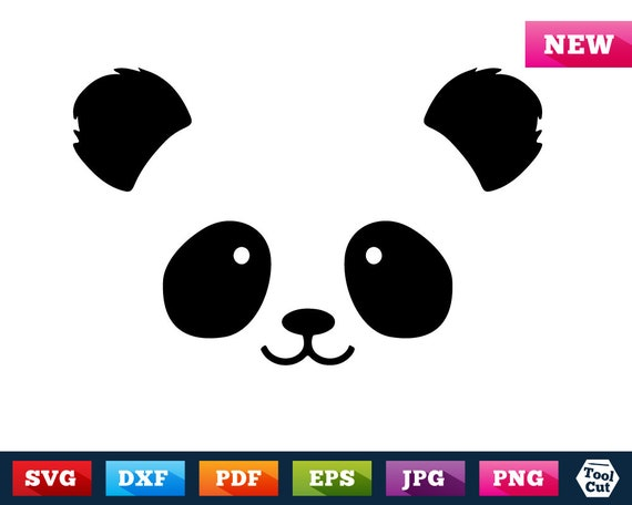 Panda Face Svg Panda Smiley Svg Panda Head Svg Funny T