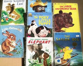 Little Golden Books Animal Stories Set of 7