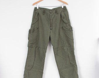 Canadian Army Issue Infantryman's Olive Green Cotton Combat Trousers Lightweight MK III W34 L32