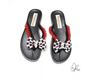 e418cfd5aa4708 Red  African Print Sandals  Ankara Slippers