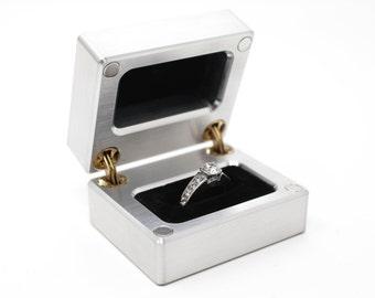 bf0ae3271 RING BOX, ENGAGEMENT Ring Box, Ring Bearer Box, Wedding Ring Box, Proposal Ring  Box, Velvet Ring Box, Antique Ring Box, Aluminum Ring Box