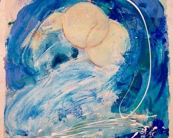 Mond auf großen Sur Ozean auf Leinwand
