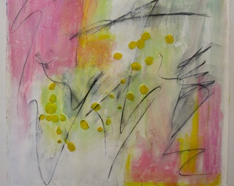 Spring Fling on Paper, Mounted on Canvas