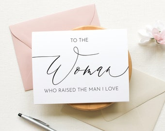 To my Mother In Law on my Wedding Day, To my Mother in law, To the Woman Card, Wedding Day Cards, Mother Wedding Day, To My In Laws