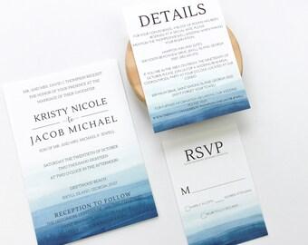 beach wedding invitation etsy