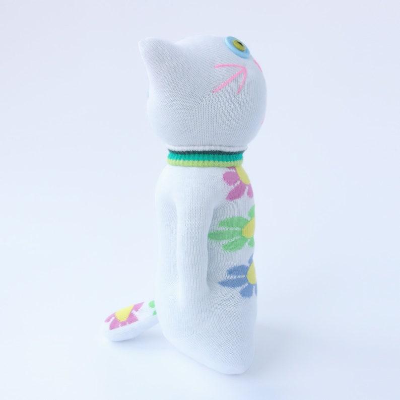10 Handmade Stuffed White Sock Cat Kids/' Doll Toy