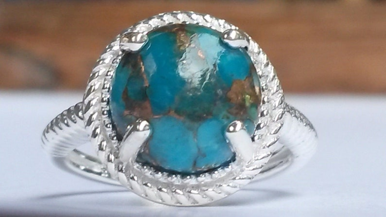 4.00ct of Rare Mojave Blue Turquoise set in 925 silver UK L