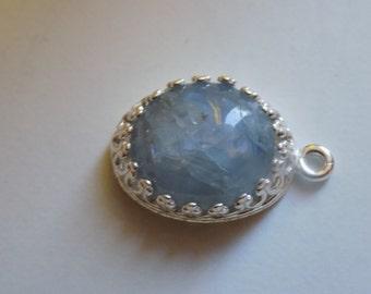 7ct dolphin grey sapphire pendant in silver
