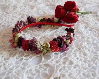 Haarreifen Echte Blumen Alice Band In Viele Farben Moglich Etsy