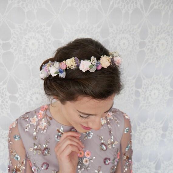 Braut Blumenkranz Haarkranz Wedding Crown Echte Blumen Real Etsy