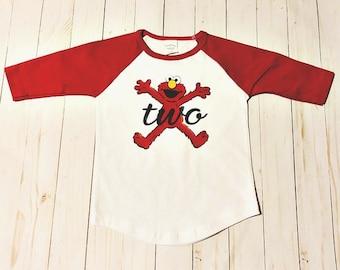 2nd Birthday Shirt Elmo 2 Year Old Raglan Baseball Gift Custom