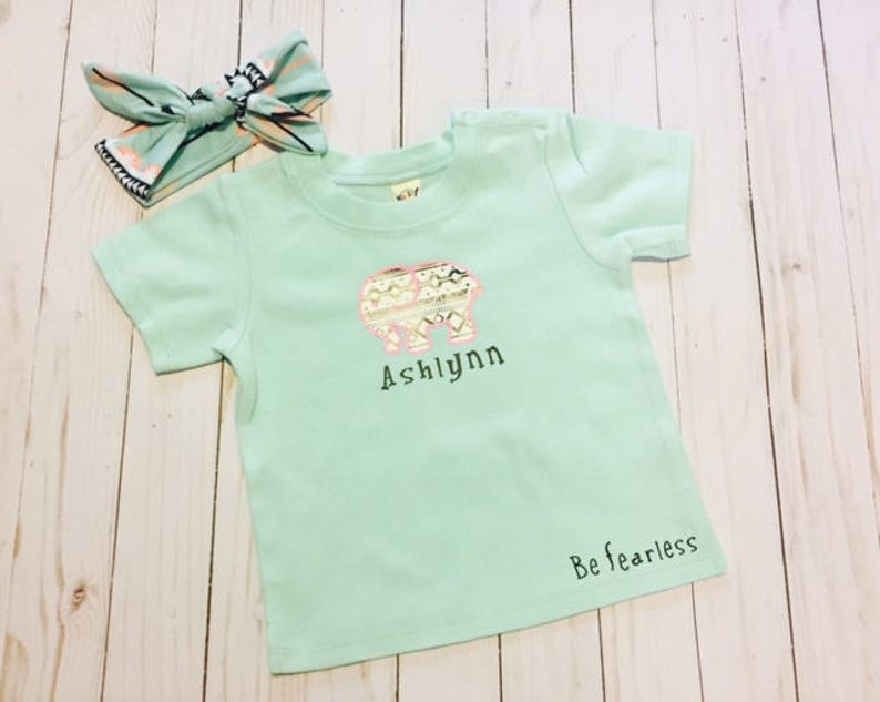 Be Fearless Baby Shower Gift Idea Be the Elephant in the Room Elephant Shirt Birthday Gift Idea Tee Shirt Baby shirt Toddler Shirt