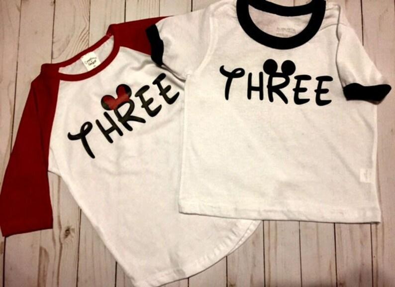 3rd Birthday Shirt Mickey Minnie