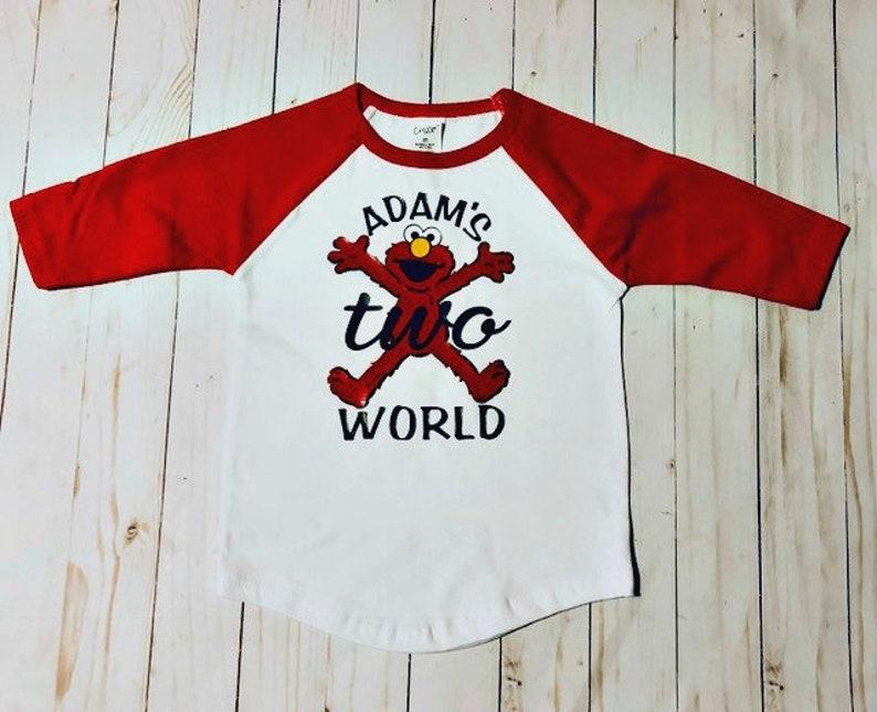 2nd Birthday Shirt Elmo 2 Year Old Raglan Baseball Gift Custom Elmos World