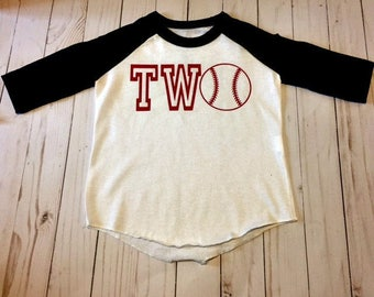 Kids Birthday Shirt, Two Year Old Birthday Shirt, Baseball Shirt, Toddler Birthday Shirt, Ringer Shirt, Gift Idea