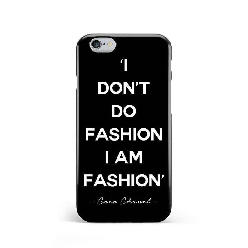 c390798b205519 Black & White 'I don't do fashion I am fashion' | Etsy