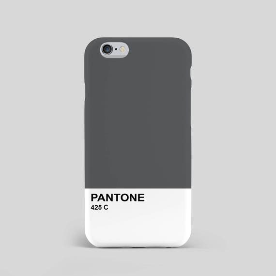 new styles e928a 3962c Pantone 425 C Unofficial 3D Phone Case - modern - Slate Grey - Grey - Dark  Grey - Pantone colour swatch - swatches - Pantone - iphone case