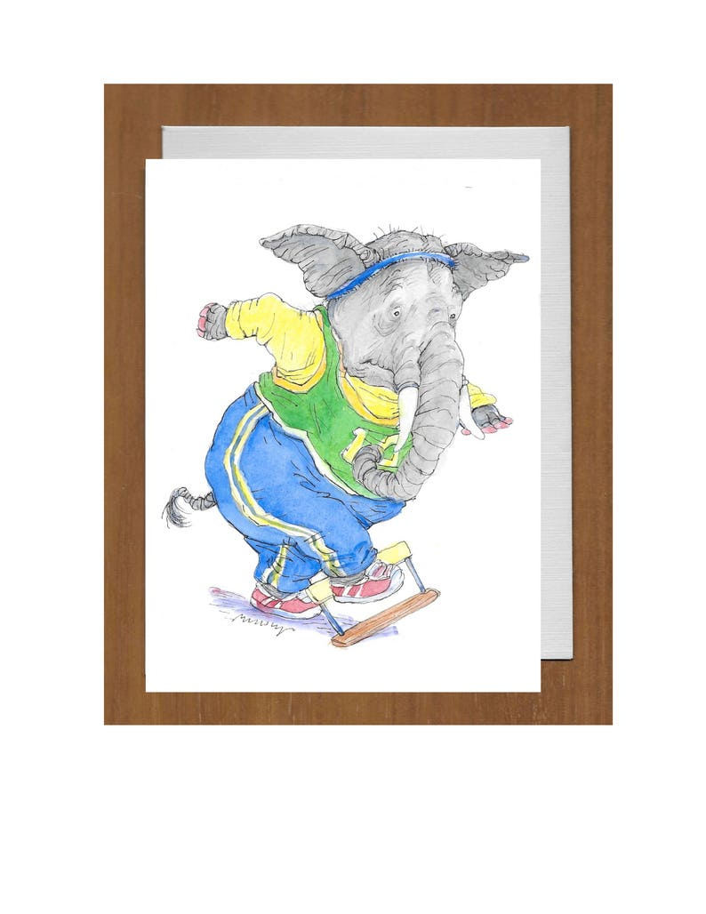 42 Elephant Facing Hurdle get Well Card \u2013 Sorry to hear you/'re facing a new hurdle.