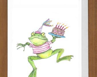 08) Hoppy Frog Birthday Card – Have a very hoppy birthday!