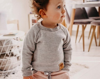 Shirt waffle knit child baby clothes