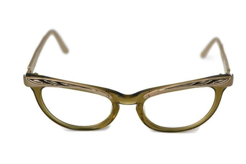 643600dcc0f4 Vintage Shuron 5 1/2 USA Cat Eye Glasses | Etsy