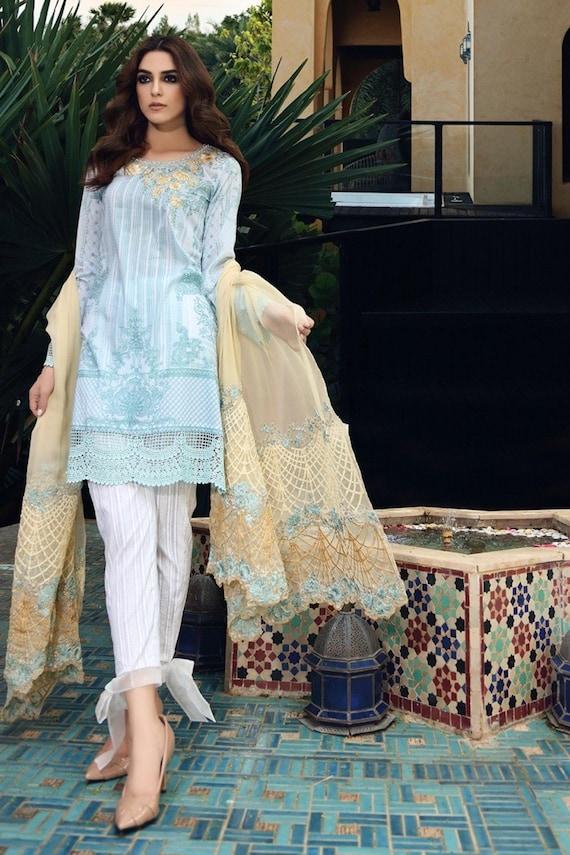 Maria B. Eid Lawn Kollektion 2017 Anzüge denen drei Rasen | Etsy
