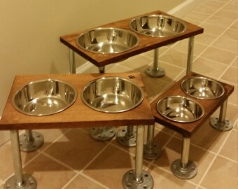Raised dog bowls (large)