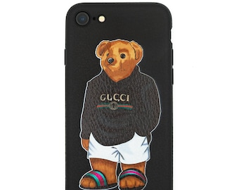 6088aefb51a6b6 Gucci2018 Black Bear Inspired Artwork iPhone X XS Max 6 6s 7 8 Plus  Protective Case