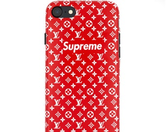 Supreme X Fashion Custom Red Apple iPhone X 6 6s 7 8 Plus Case