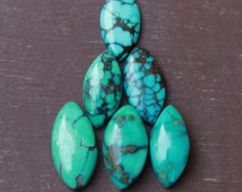 Copper Turquoise Marquise Briolettes EVE307 8*16mm 12 Pieces Copper Turquoise Smooth Marquise Briolettes