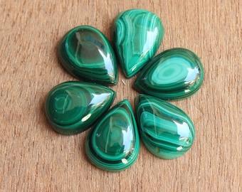 Pear  shape tear drop Malachite cabochon AAA grade malachite gemstone  Size 43x37mm  Malachite loose gemstone