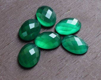 Details about  /Lot Natural Green Onyx 18X25 mm Oval Cabochon Loose Gemstone