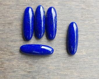 Lapis Lazuli, natural gemstone, flat back lapis lazuli, lapis beads, long oval shape, calibrated sizes from 8x16 to 15x36, drilling avail.